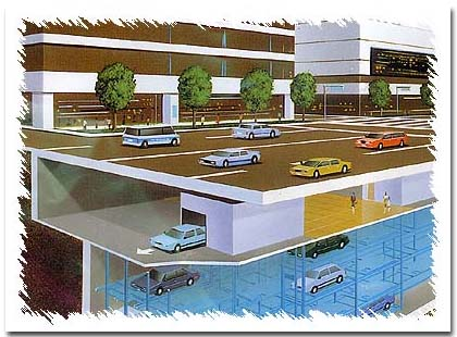 多层停车场展示_设计图分享